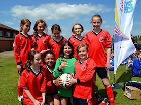 Girls Football Team: Winners 2014/15