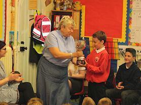 The Governor's Trophy is presented by Rev Beverley