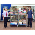 Our harvest donations delivered to Tesco