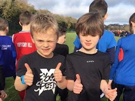Year 3 boys getting ready for their first ever run in this event.