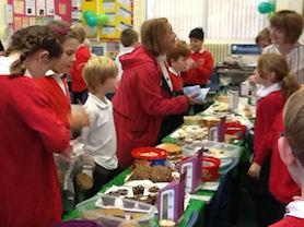 Parents bought lots of our cakes for the good cause.