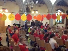 Christingle Service in Church.