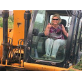 Mrs Hopkins leads the demolition