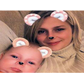 Miss Geeson and baby son