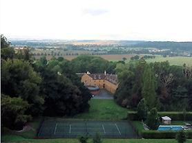The amazing view from Belvoir Castle.