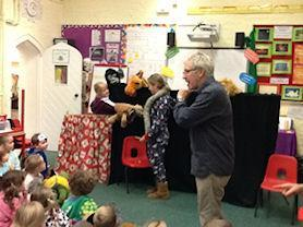 Sycamore Class with their puppets,