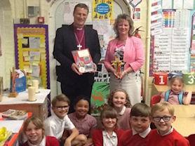 Presenting Mrs Hopkins with a special cross for our worship table.