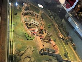 A 3D map of Nottingham Castle.