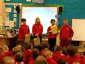 Assembly lead by Year 6 children.