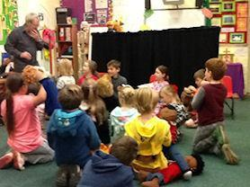 Oak Class with their puppets.