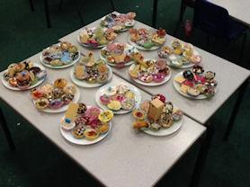 We had great fun making cakes for Macmillan coffee morning.