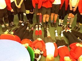 Colourful odd socks.
