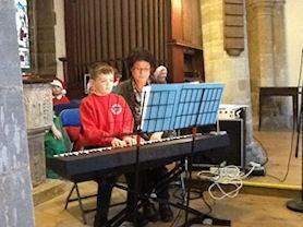 Piano performance.