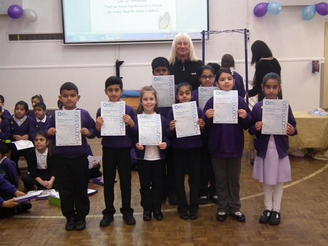 All the children passed the award!