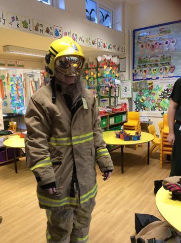 Miss Johnson, the firefighter!