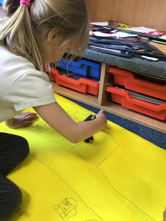 We drew aerial view plans.