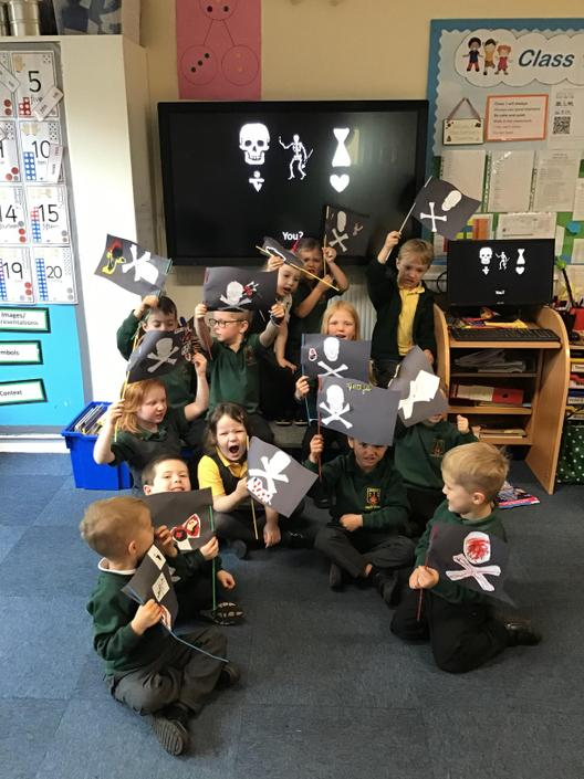 We made our own personalised pirate flag so the enemy would know their foe!