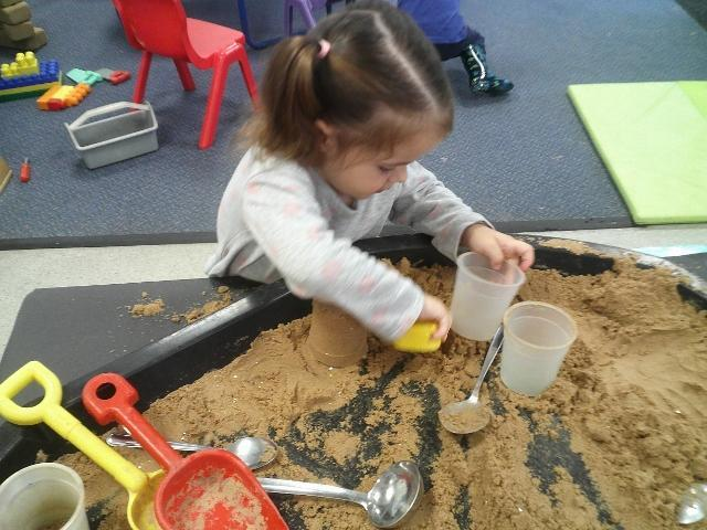 Exploring with sand