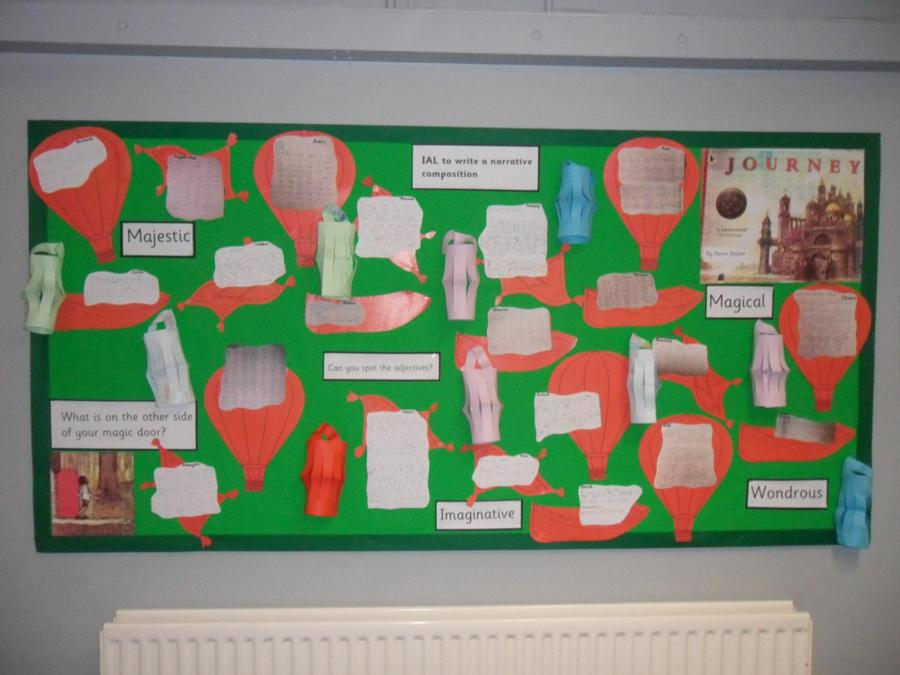 We wrote stories about our own magic door inspired by Aaron Becker's 'Journey'.