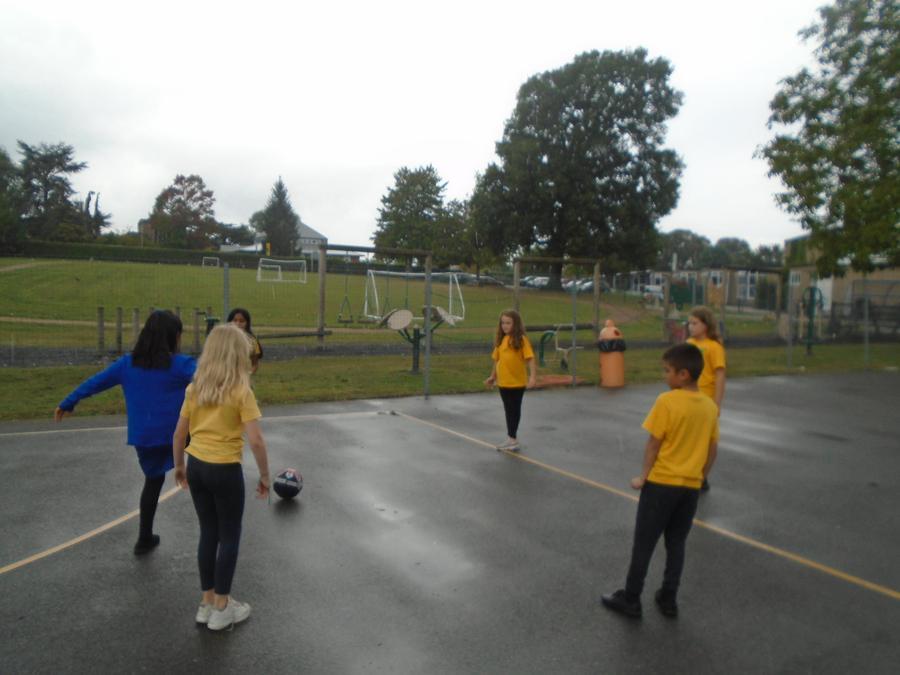 PE lesson Football