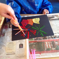 We used straws to create the fireworks.
