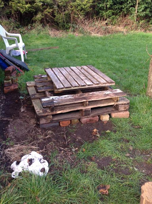 We started to make our bug hotel.