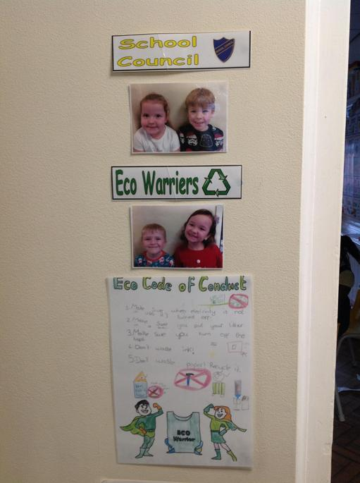 We voted for our School Council and Eco Warriers.
