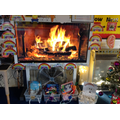 This is our cosy fire and some of our favourite Christmas stories.