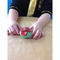 We used a chocolate button to finish the poppy off.