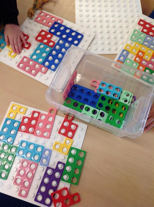 We have been making patterns and exploring with the Numicon