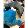 Cookie Monster loves reading!