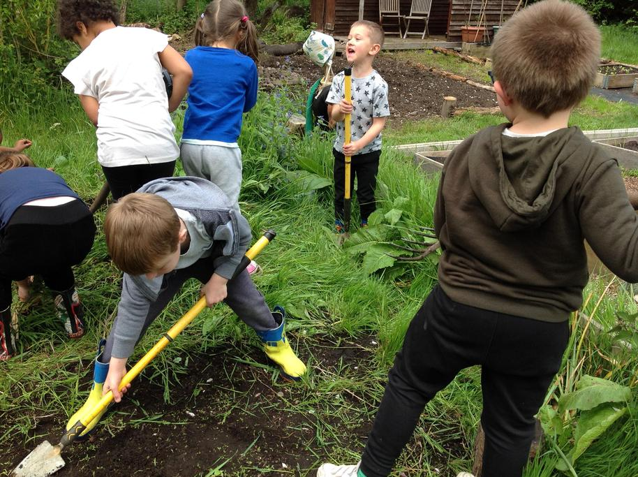 Weeding our plot.