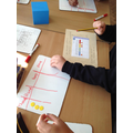 We had 4 counters, we made as many 4-digit numbers as we could on a place value grid.