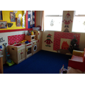 Here is our Christmas Role play area.