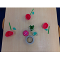 We made our own poppies.