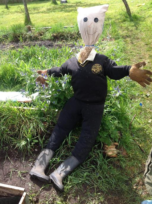Welcome to our new Warren Farm scarecrow.