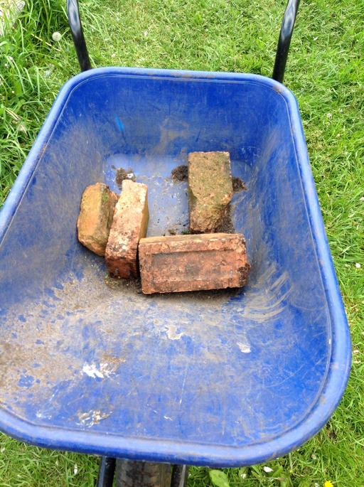 We collected some bricks.