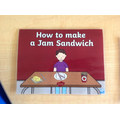 We followed the instructions of How to make a Jam Sandwich.