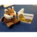 We used prepositional language to position the fox.