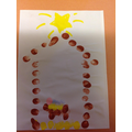 We used finger painting to create the Nativity scene.