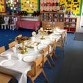 We had a Tea party in Nursery.