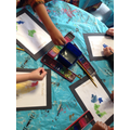 We created water colour paintings.
