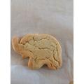 We made Elmer biscuits.