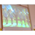 We had a go at doing some Irish Dancing.