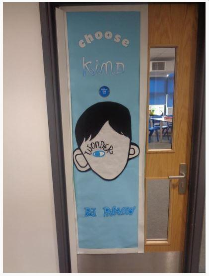 Year 6's favourite book on their door!