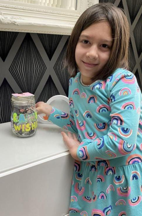 Amelie has made a Rainbow Wishes jar full of things she can't wait to do post lockdown.