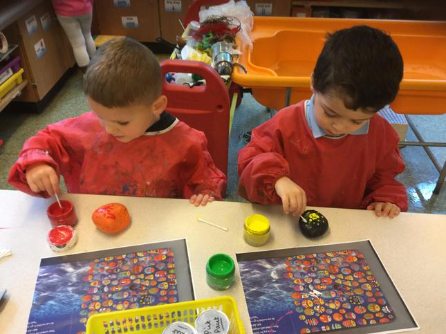 Our pebbles look bright and cheerful!