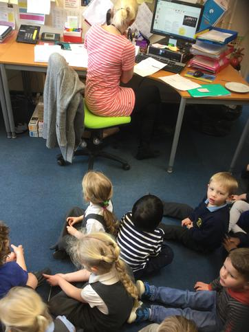 We sat quietly when Mrs Colson answered the phone