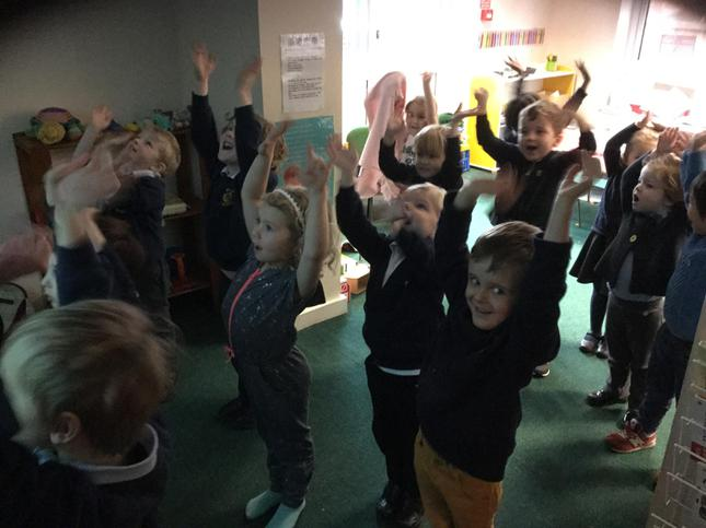 We stretched our bodies!
