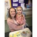 The children enjoyed tasting their cakes!